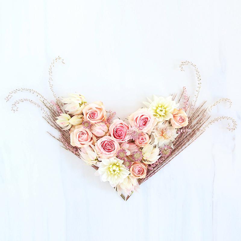 DIGITAL BLOOMS FEBRUARY 2018   Free Blush Heart Desktop Wallpapers for Valentine's Day // JustineCelina.com x Rebecca Dawn Design
