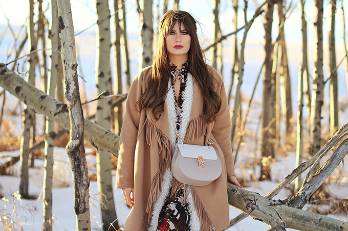 How to Style   Midi Dresses for Winter 2018   Best Chloe Drew Bag Dupes   Calgary, Alberta Fashion Blogger // JustineCelina.com