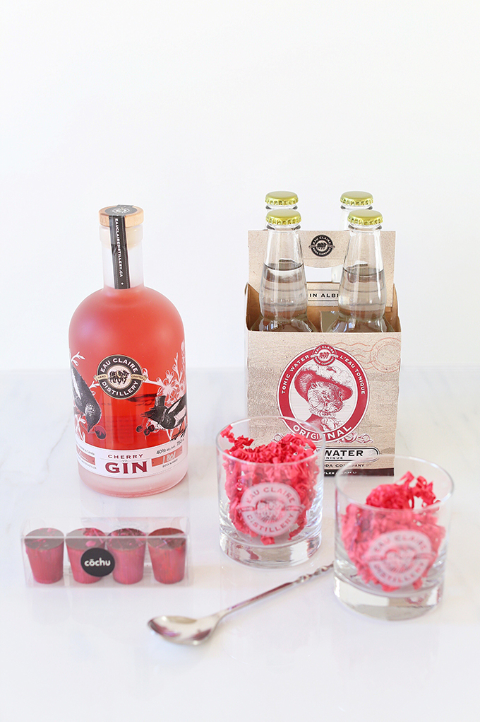 Rose Infused Cherry Gin Fizz   Featuring an Eau Claire Distillery Cherry Gin Cocktail Caddy GIVEAWAY   Calgary, Alberta Lifestyle + Food Blogger // JustineCelina.com