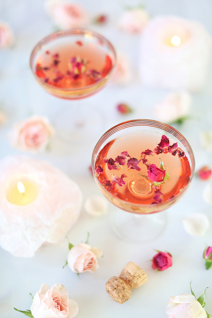 Rose Infused Cherry Gin Fizz   Featuring Eau Claire Distillery Artisanal Cherry Gin + The Silk Road Spice Merchant Spices   Calgary, Alberta Lifestyle + Food Blogger // JustineCelina.com