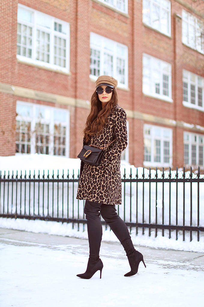 How to Style   Leopard Print   Winter to Spring 2018 Transitional Fashion Ideas   Calgary, Alberta Fashion Blogger   Canadian Fashion Blogger // JustineCelina.com