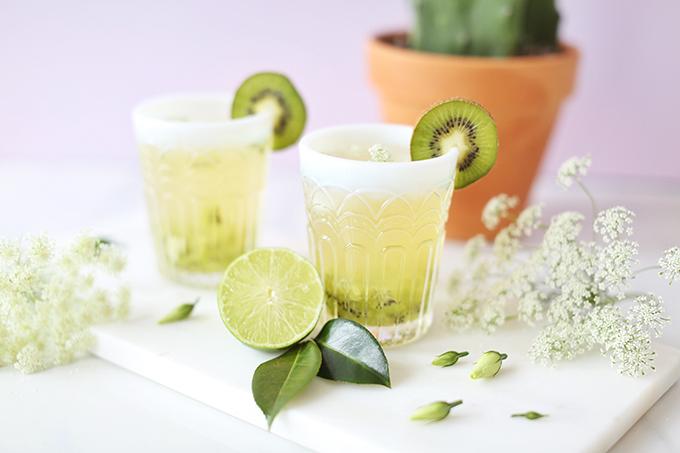 Spring Equinox Kiwi Elderflower Smash + Eau Claire Distillery Prickly Pear EquineOx Giveaway! // JustineCelina.com