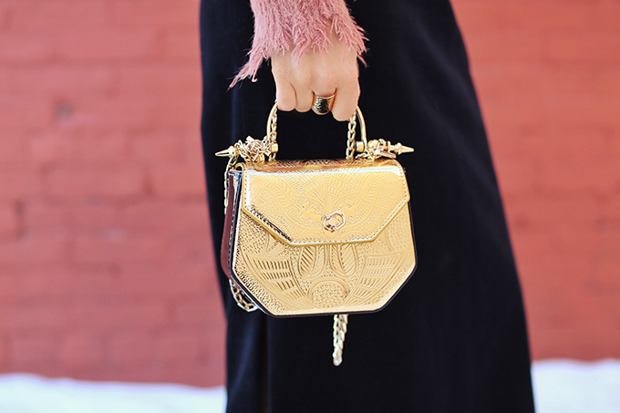 Winter 2018 Trend Guide | Velvet Underground | Key Winter to Spring Transitional 2018 Trends | Bold Gold Accessories | Calgary, Alberta, Canada Fashion Blogger // JustineCelina.com