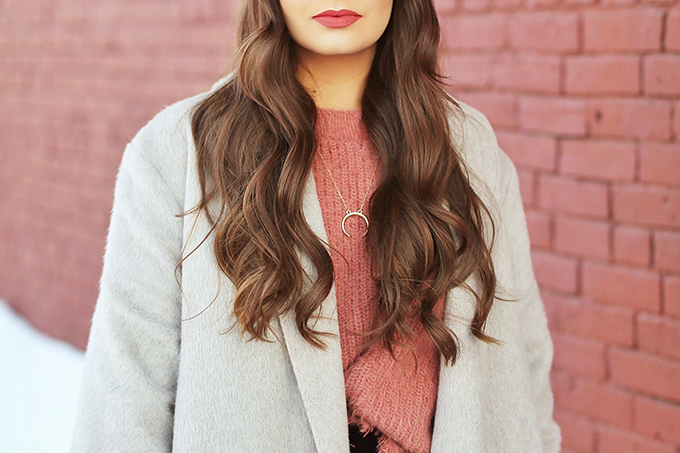 Winter 2018 Trend Guide | Velvet Underground | Key Winter to Spring Transitional 2018 Trends | Smashbox Always On Matte Liquid Lipstick in Driver's Seat | Calgary, Alberta, Canada Fashion & Beauty Blogger // JustineCelina.com