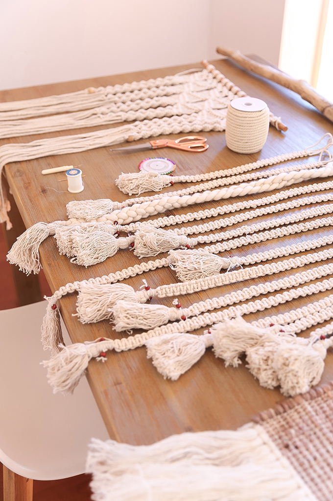 DIY | Large Driftwood Macrame Wall Hanging | How to Make a Large Macrame Wall Hanging for Less Than $50! | Materials Needed // JustineCelina.com