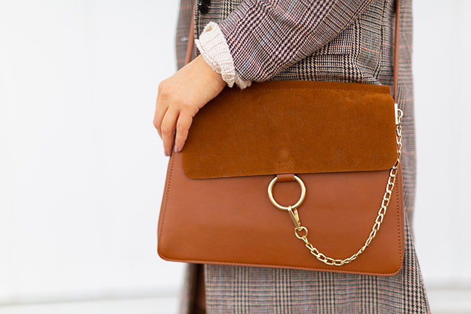 Spring 2018 Trend Guide | Check Yourself | Best Chloe Faye Medium Leather and Suede Shoulder Bag Dupes Under $50 | Calgary, Alberta Fashion Blogger // JustineCelina.com