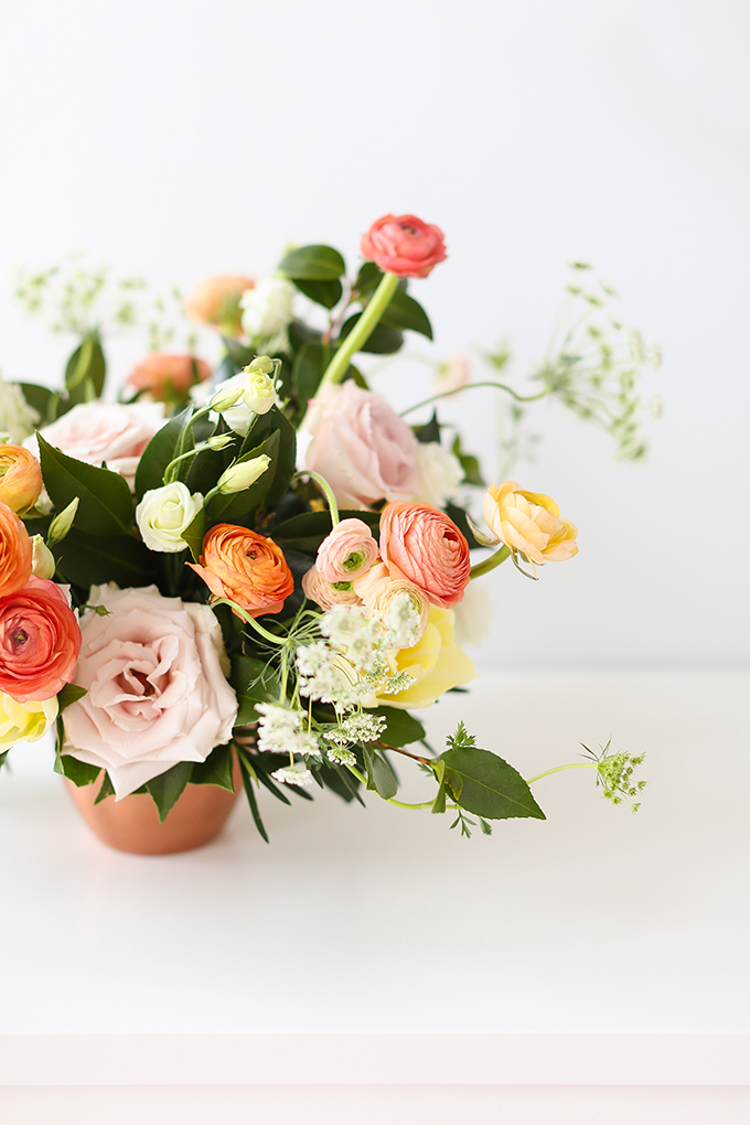 My 3rd Blogiversary + 10 Things I Learned in my Third Year of Blogging   Cheerful Spring Flowers: Ranunculus, Tulips, Queen Anne's Lace and Quicksand Roses   A Pantone Spring 2018 Inspired Birthday Celebration // JustineCelina.com