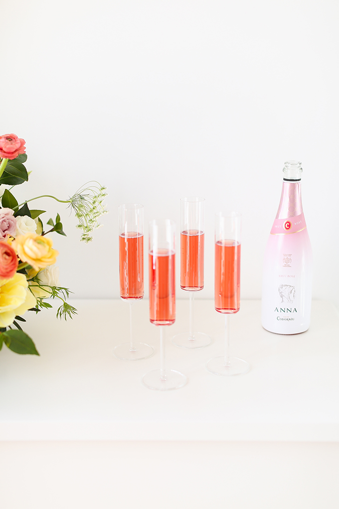 My 3rd Blogiversary + 10 Things I Learned in my Third Year of Blogging   Sparkling Rosé Wine in Modern Champagne Flutes   A Pantone Spring 2018 Inspired Birthday Celebration // JustineCelina.com