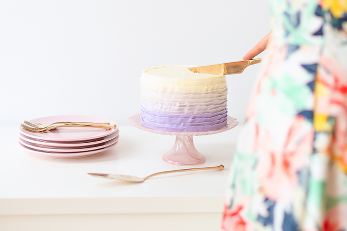 My 3rd Blogiversary + 10 Things I Learned in my Third Year of Blogging   Lavender Ombre Ruffle Cake   A Pantone Spring 2018 Inspired Birthday Celebration // JustineCelina.com