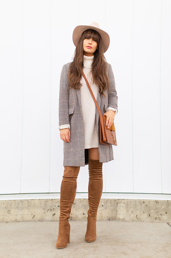 Spring 2018 Trend Guide   Check Yourself   Best Chloe Faye Medium Leather and Suede Shoulder Bag Dupes Under $50   Calgary, Alberta Fashion Blogger // JustineCelina.com