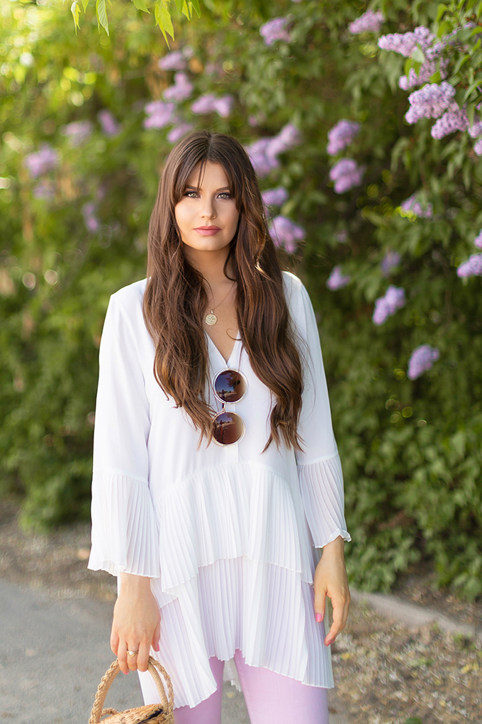 Spring 2018 Trend Guide | Lavender Love | Ruffled, Tiered Pleats | Calgary, Alberta Fashion Blogger // JustineCelina.com