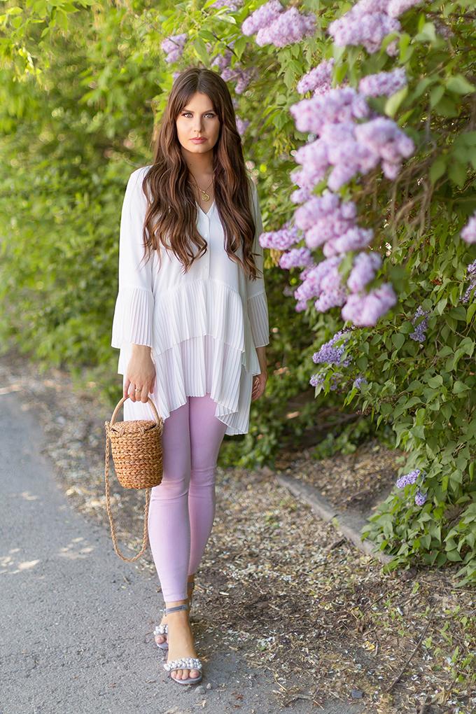 Spring 2018 Trend Guide | Lavender Love | How to Style Lavender Denim | Calgary, Alberta Fashion Blogger // JustineCelina.com