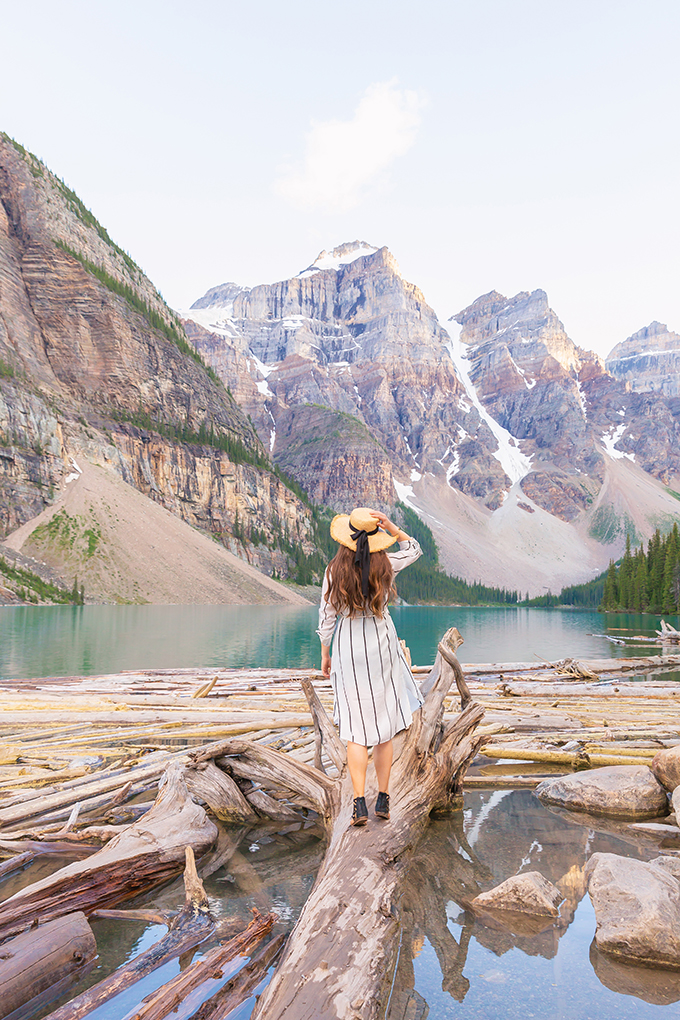 July 2018 Soundtrack | Exploring Morraine Lake in the Summertime | Morraine Lake at Sunset | Alberta Travel Lifestyle Blogger // JustineCelina.com