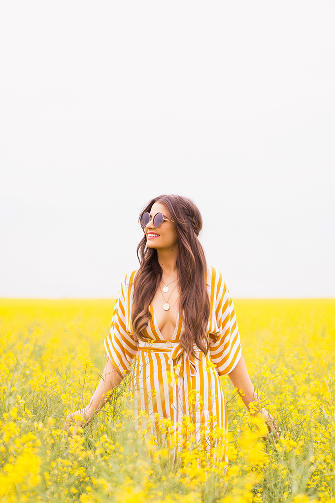 August 2018 Soundtrack | Alberta Fashion & Lifestyle Blogger | Field of Canola // JustineCelina.com