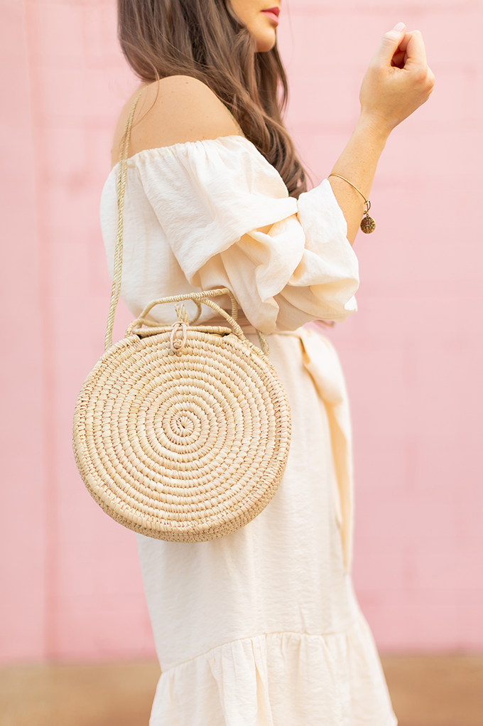 The Accessory Edit | Natural Material Bags | Shop Demiie African Made Wood Bag | How to Style Straw Bags | The Best Sustainable Straw Bags 2018 // JustineCelina.com