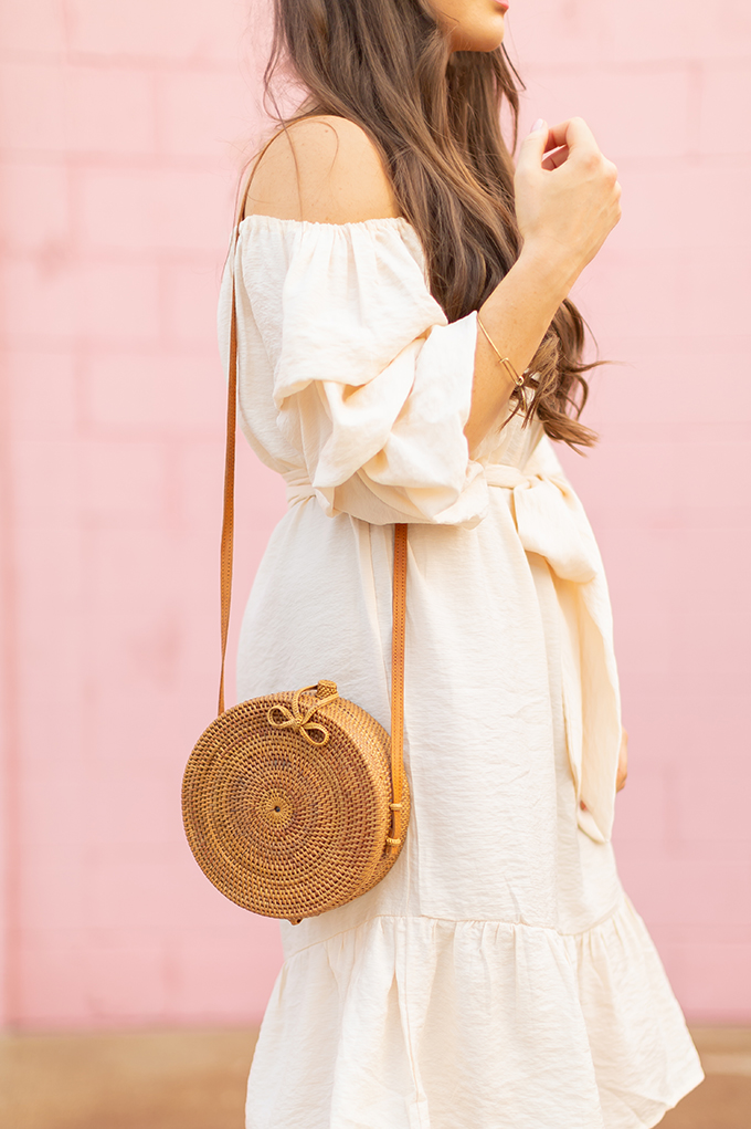 The Accessory Edit | Natural Material Bags |Bali Harvest Round Woven Rattan Bag | How to Style Rattan Bags | The Best Sustainable Rattan Bags 2018 // JustineCelina.com