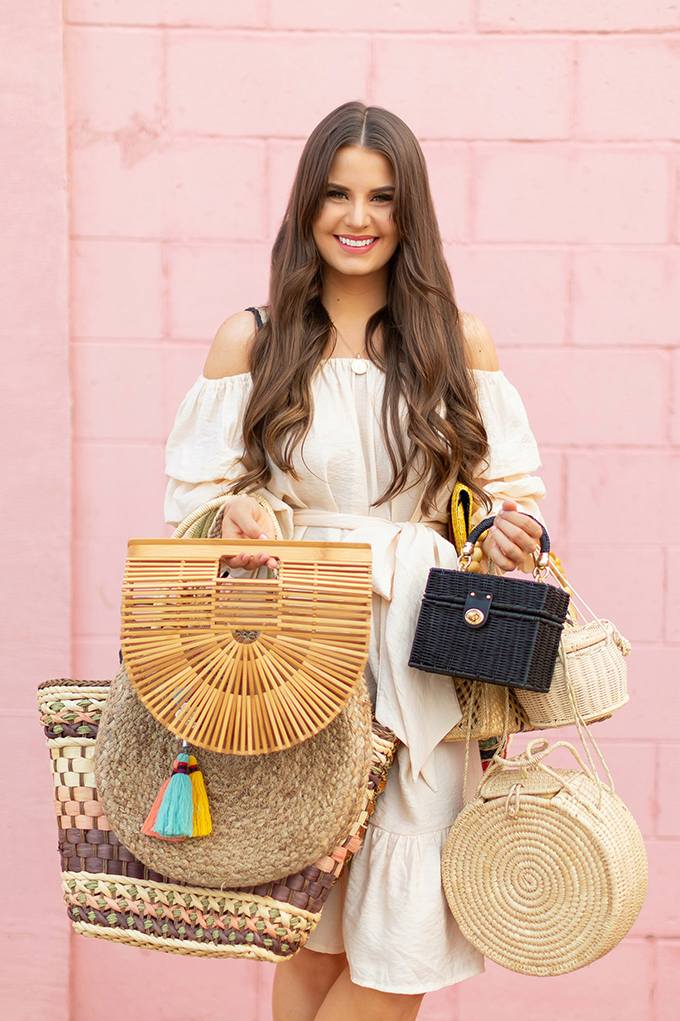 The Accessory Edit | Natural Material Bags | How to Style Straw Bags | The Best Straw, Raffia, Jute and Wood Bags 2018 // JustineCelina.com