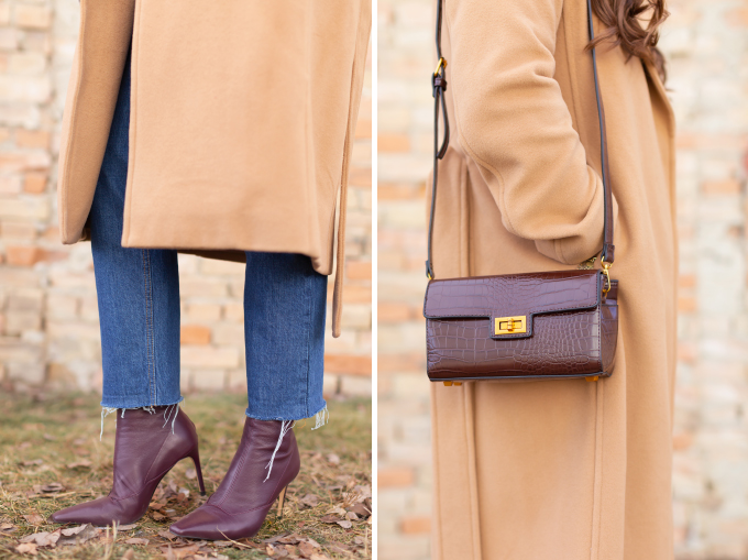 Winter 2019 Lookbook   Leopard Love: My Go-To Casual Winter Outfit for Cold Weather   Aritzia Babaton Robbie Wool Coat Long styled with a fuzzy leopard print sweater and House of Vi layered gold necklaces   Stylish Winter 2019 Outfit Ideas   Cool Girl Winter Outfit Ideas // Calgary, Alberta, Canada Fashion & Lifestyle Blogger // JustineCelina.com