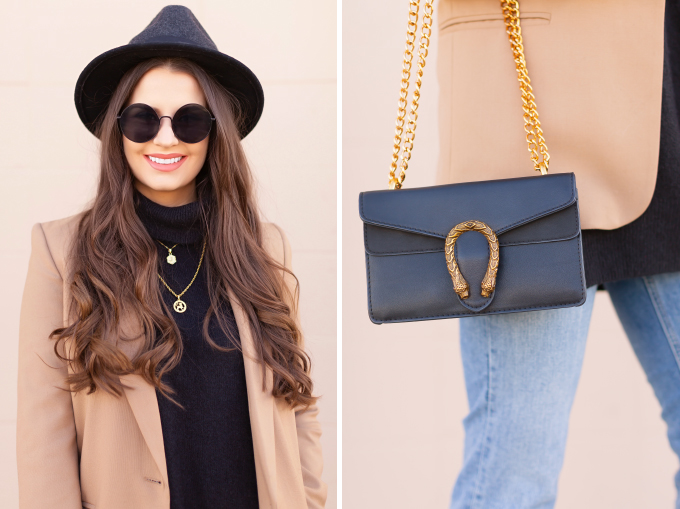 Winter 2019 Lookbook | Modern Western: How to Style Snakeskin Ankle Boots for Winter | Western Snakeskin Ankle Boots Styled With Cropped, Stem Hem Jeans, An Oversized Black Sweater, A Tan Boyfriend Blazer, a Black, Wide Brim Hat and a Gucci Dionysus Small Shoulder Bag | Bohemian Winter Style Ideas | How to Wear the Western Trend for 2019 | Calgary, Alberta, Canada Fashion & Lifestyle Blogger // JustineCelina.com