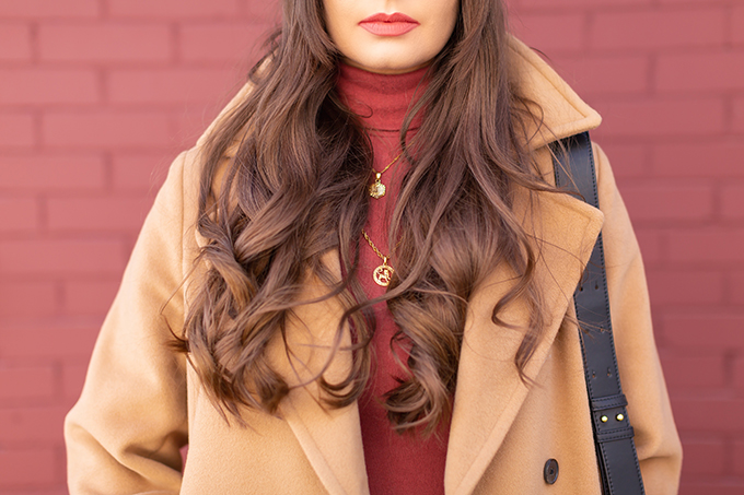 TRANSITIONAL STYLE STAPLES   WINTER TO SPRING 2019: My Go-To Polished Outfit for Transitional Weather   Aritzia Babaton Robbie Wool Coat Long styled with a Pantone Living Coral Turtle Neck, a Tweed and Leather TopShop Baker Boy Hat and Layered Gold House of Vi Jewellery   NARS Audacious Lipstick in Brigitte, Photos, Review   Stylish Winter / Spring Transitional 2019 Outfit Ideas   Calgary, Alberta Fashion Blogger // JustineCelina.com