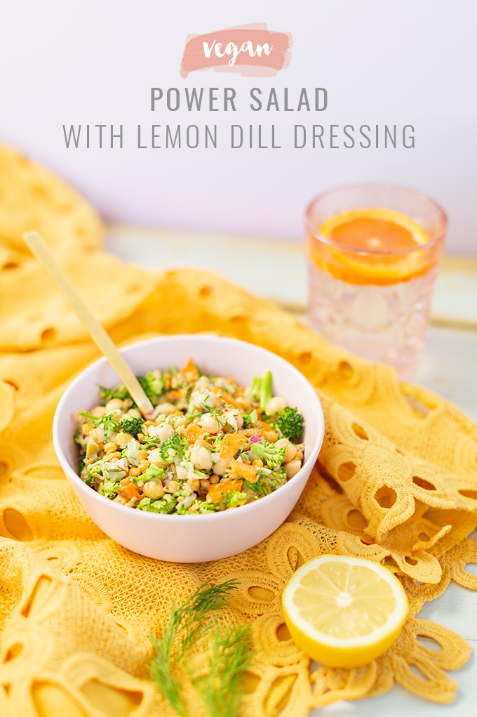 Vegan Power Salad with Lemon Dill Dressing | The Best Raw High Protein Vegan Salad Recipe | Easy 20 Minute Vegan Salad Recipe | Healthy Vegan Salad Recipe with Chick Peas and Lentils | Lean Vegan Protein Salad | Best Vegan Salad Lunch Ideas | Raw Vegan Protein Salad | Simple Vegan Protein Salad | Raw Vegan Power Salad | Meal Prep Vegan Protein Salad | Simple Vegan Protein Salad with Fresh Dill Ingredients // Calgary, Alberta, Canada Plant Based Food and Lifestyle Blogger // JustineCelina.com