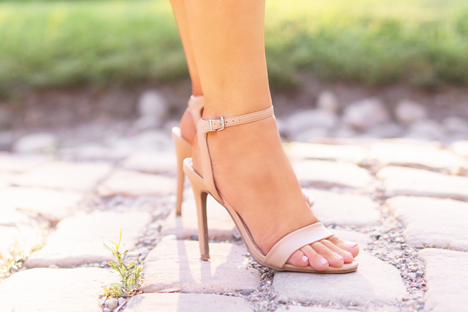 What to Wear to | A Casual Summer Wedding | Outdoor Summer Wedding Outfit Ideas | Abode 2 Strap Nude Stiletto Sandals from Nordstrock Rack Canada | How to Dress for a Casual Outdoor Summer Wedding | Best Shoes to Wear to a Wedding | Calgary Fashion and Lifestyle Blogger // JustineCelina.com