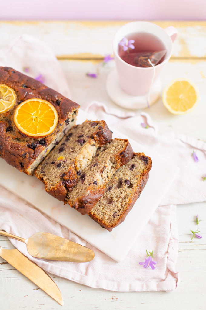 Gluten Free Saskatoon Citrus Banana Bread | Free of dairy, gluten and refined sugar and full of healthier, natural substitutions perfect for those with food allergies, intolerances or sensitivities | Best Saskatoon Berry Recipes | Saskatoon Berry Recipes Gluten Free | Clean Banana Bread Recipe | Saskatoon Banana Bread | Banana Saskatoon Loaf | Healthy Gluten Free Banana Bread | Calgary Clean Food Blogger, Recipe Developer and Food Stylist // JustineCelina.com
