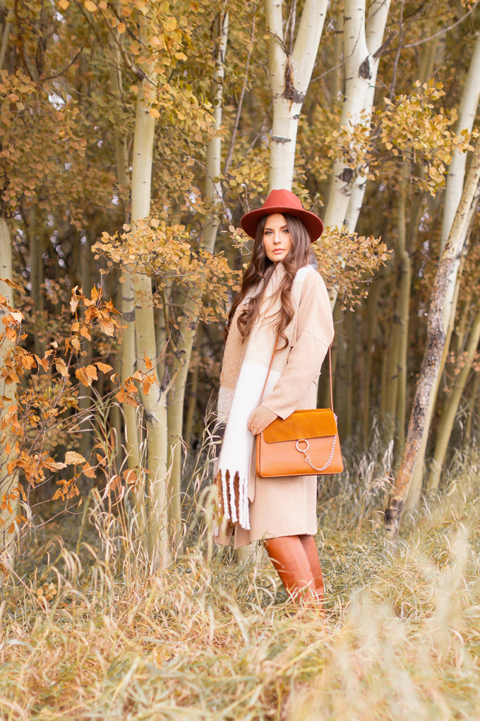 Casual Fall Style Staples | Casual Thanksgiving Outfit Ideas | Thanksgiving Outfit Ideas for Cold Weather | Canadian Thanksgiving Outfits | Casual Family Holiday Dinner Outfit Ideas | Family Thanksgiving Outfits | Bohemian Thanksgiving Outfit Ideas | Casual Boho Fall Outfit | The Best H&M Sweaters | The Best Flat Brimmed Hats for Fall 2019 | The best Chloe Faye Dupes | Brunette Woman Wearing a Casual Fall Thanksgiving Outfit | Calgary Fashion & Lifestyle Blogger // JustineCelina.com