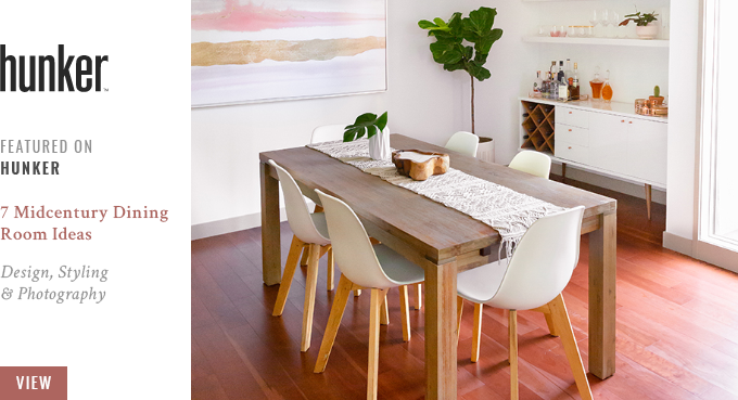 JustineCelina's Dining Room Featured in Hunker.com's 7 Midcentury Dining Room Ideas  // JustineCelina.com