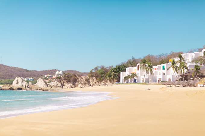 Resort 2020 Lookbook | Camino Real Zaashila, Huatulco Review | Camino Real Resort Huatulco 2020 | Camino Real Beach | Camino Real Private Beach | Huatulco Weather in January | Huatulco Luxury Resorts | The Best Luxury Resorts in Huatulco | Mexican 5 Star Resort Beach | Dreamy Mexican Resort with Private Beach and Palapas  | Tangolunda Bay, Huatulco | Calgary Fashion & Travel Blogger // JustineCelina.com