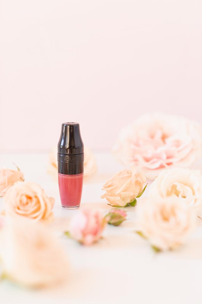 My Top 5 Rose Toned Lipsticks | JustineCelina's most worn lipsticks | JustineCelina's favourite lipsticks | Beauty Blogger's Favourite Lipsticks | The best rose Lipsticks | Best Rose Colored Lipstick Drugstore | Pink Lipstick for Medium Skin | Best Lipsticks Spring 2020 | Lancôme Matte Shaker High Pigment Liquid Lipstick in Beige Vintage | Photos, Review, Swatches | Spring Luxury Liquid Lipstick surrounded by roses | Calgary Beauty & Lifestyle Blogger // JustineCelina.com